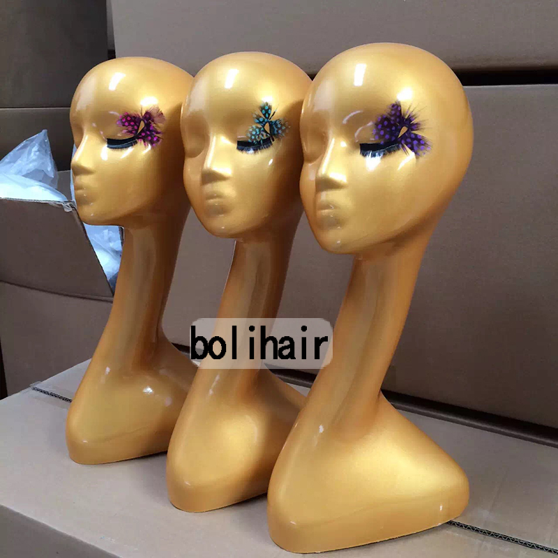 ФОТО Fashionable High Level Female Golden Mannequin Head Best Quality For Wig Jewelry Scarf Hat Display Mannequin Head For Wig