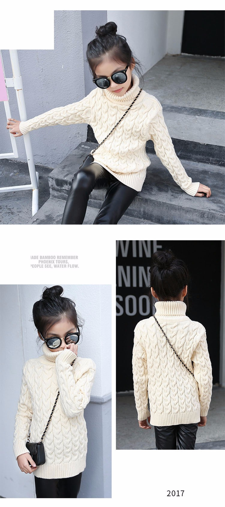 2017 new high neck long knitting girls sweater spring autumn winter turtleneck knitted children sweaters kids girls thick red black beige pink tops 7 8 9 10 11 12 13 14 15 years little big teenage girls sweater winter casual children (8)