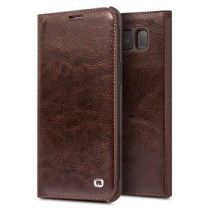 Image 4 - Case Flip עור אמיתי עבור Samsung Galaxy S8 QIALINO ארנק תיק כיסוי טלפון דק במיוחד לגלקסי S8 Plus עבור 5.8/6.2 inch