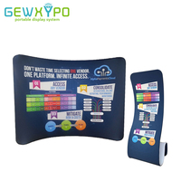 10ft 8ft Trade Show Portable Display Curve Stretch Tension Fabric Backdrop With Snake Banner Stand Include