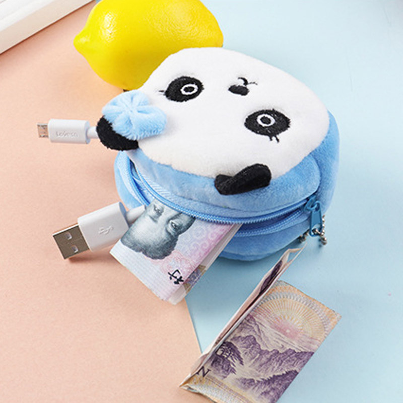 Responsible Hot Sale Kawaii Animals Plush Stuffed Doll Toy Of Coin Bag Cartoon Children Coin Purse Zip Change Purse Wallet Kids Girl Women Wide Selection;