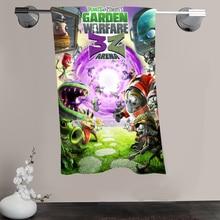 H-P & 98 Benutzerdefinierte Großen Größe 140 cm x 70 cm Baumwolle Badetuch Pflanzen vs. Zombies #1 Dusche handtuch Für ihre familie SQ00908-@ H098