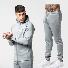 Sport Suit Men Set Running Gym Sportswear Tracksuits Fitness Body building Mens Hoodies+Pants Sport Outwear Clothing Suit Male