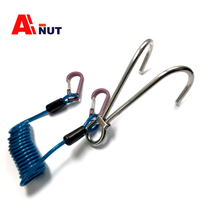 316 Stainless Steel Diving Double Reef Hook , Spring wire rope titanium alloy Snap Hook ,C030 03