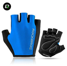 ROCKBROS Cycling Gloves Bicycle Sport Breathable Gloves Professional Racing Bike Equipment Half Finger Sponge Pad Unisex Gloves все цены
