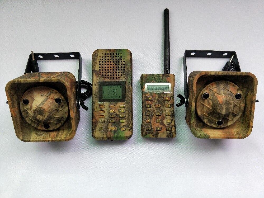 PDDHKK leurre oie canard prédateur faune chasse leurre électrique MP3 haut-parleur 200 sons Camouflage télécommande Kit