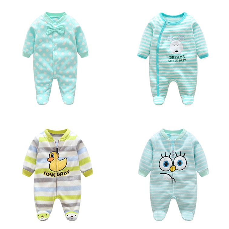HTB19Rt dwoQMeJjy0Fpq6ATxpXaM - 0-12M Baby Rompers Winter Warm Fleece Clothing Set for Boys Cartoon Monkey Infant Girls Clothes Newborn Overalls Baby Jumpsuit