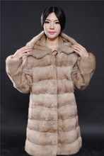 pastel light coffee color natural mink fur coat with a hood