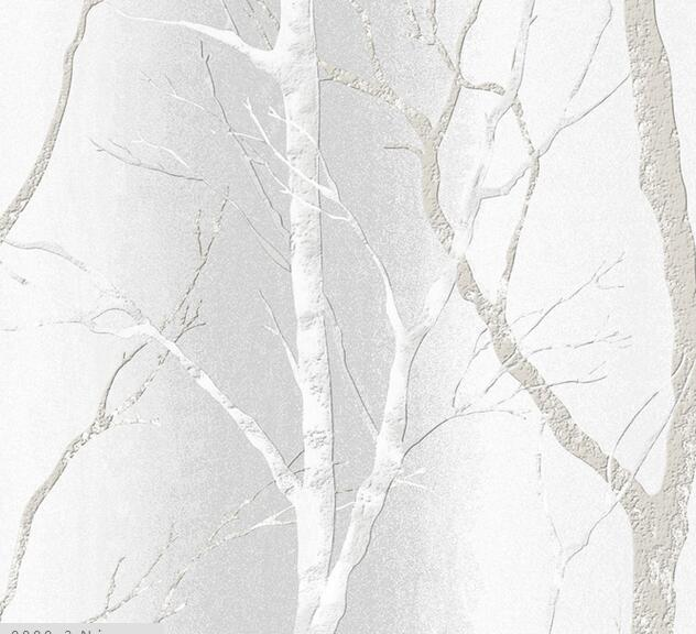 Simple Colour tree non-woven wallpaper home decor living room bedroom wallpaper murals Gray 4 Colors 0 53x10m modern blue gray green simple non woven wallpaper living room bedroom wedding room shop decoration wallpaper
