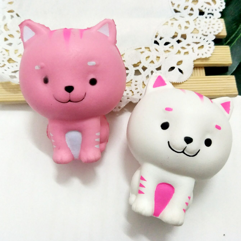 9cm Eco-friendly Baby Soft Squishy Slow Rising Stress Cat Toy Novel Cute Mini Similated Cartoon Relief Toys for Children Gifts