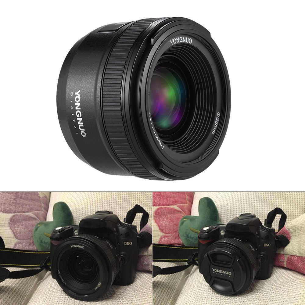 Lente YONGNUO YN35mm F2.0 F2N lente YN35mm AF/MF lente de enfoque para Nikon F montaje D7100 D3200 D3300 D3100 D5100 D90 lente de cámara DSLR