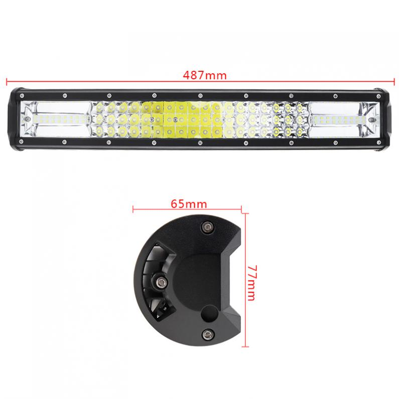 7D 20 Inch 540W Car LED Work Light Bar Triple Row Spot Flood Combo Offroad Light Driving Lamp for Truck SUV 4X4 4WD ATV in Signal Lamp from Automobiles Motorcycles