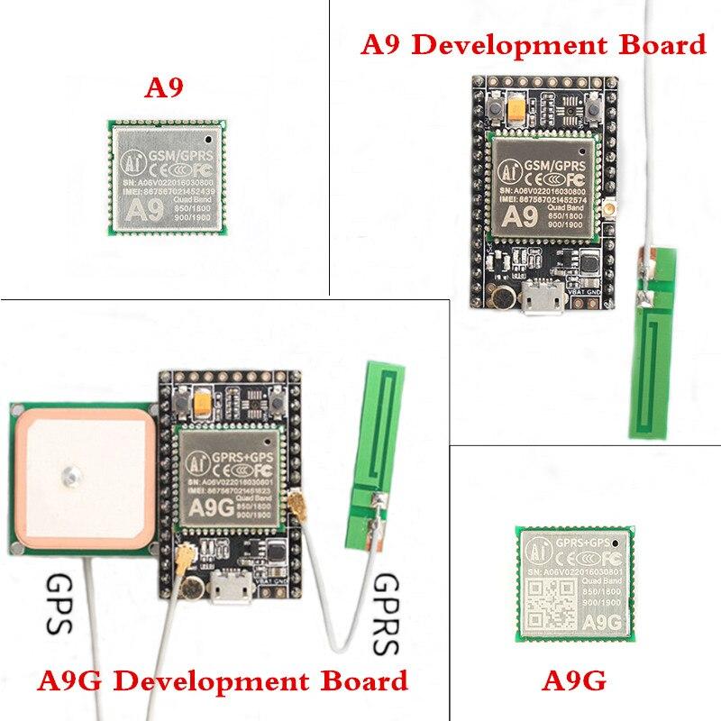 Module GPS GPRS A9 A9G Module A9 A9G carte de développement système Minimum de Transmission de données sans fil avec antenne