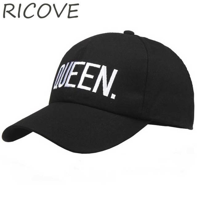 QUEEN KING Trucker Baseball Cap Dad Hat Women Men Couple Caps Snapback Black  White Hip Hop 8ebb7603e9cb