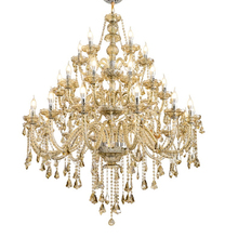 Large candle crystal chandelier…