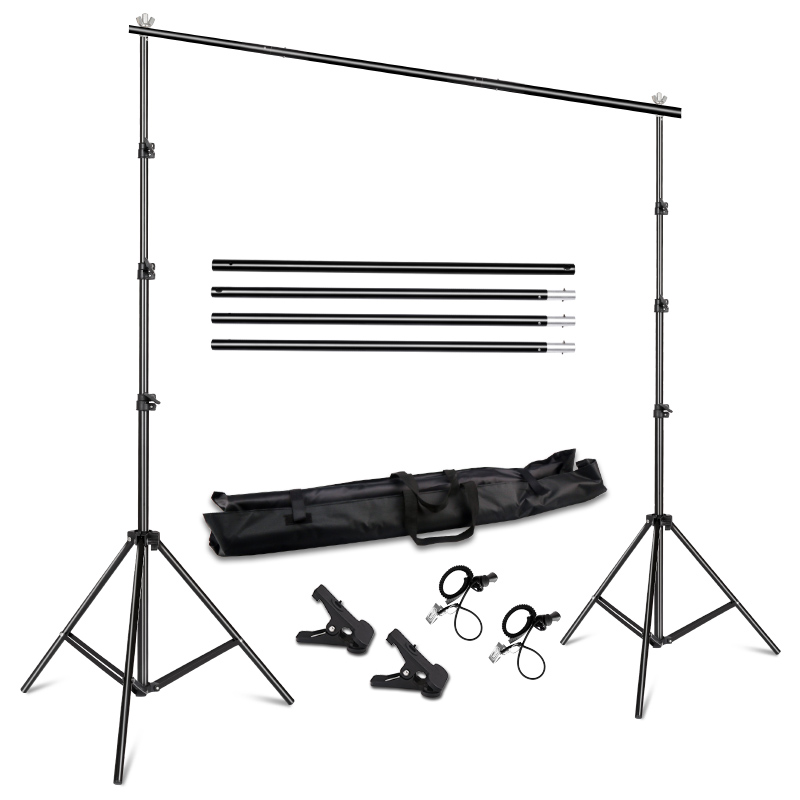 Background Stand Support System 2.6M X 3M/8.5ft X 10ft Kit With Carrying Case For Muslins Backdrops,Paper And Canvas