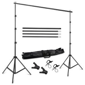 Image 1 - Background Stand Support System 2.6M x 3M/8.5ft x 10ft Kit with Carrying Case for Muslins Backdrops,Paper and Canvas