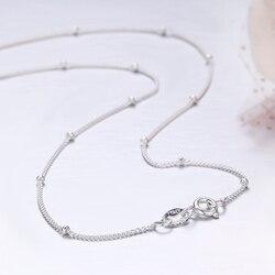 35-80 см тонкий чистый серебряные бусины 925 пробы панцирная цепочка, колье, ожерелья для женщин и девушек, ювелирные изделия, колье, колье ketting
