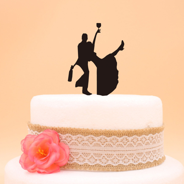 Wedding Cake Topper Funny Cake Topper The Bride and Groom Wedding ...