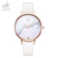 Montre Femme платье часы для женщин Shengke брендовые модные женские часы для женщин тонкий кожаный ремешок часы женский Relogio Reloj SK