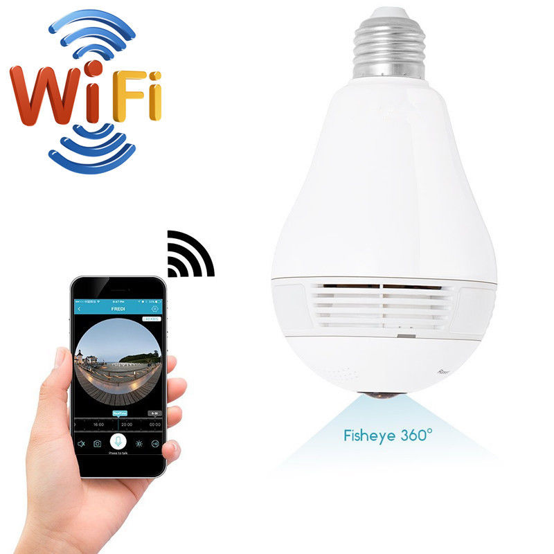 VOGROUND Hot Sale Panoramic Camera 1.3MP Home Security VR Camera Wireless Bulb 960P Wifi ...