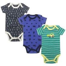 Боди для малышей, боди для новорожденных девочек и мальчиков, 3 пары в упаковке, 3, 6, 9, 12, 18, 24 месяцев, боди с короткими рукавами для младенцев
