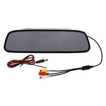 5 pollice Digitale A Colori TFT LCD Car Specchio Retrovisore Reverse Monitor per la Macchina Fotografica DVD VCR