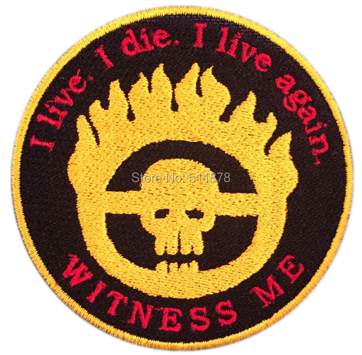 Mad Max Fury Road Witness Me Patch TV movie Embroidered sew on iron on patch punk
