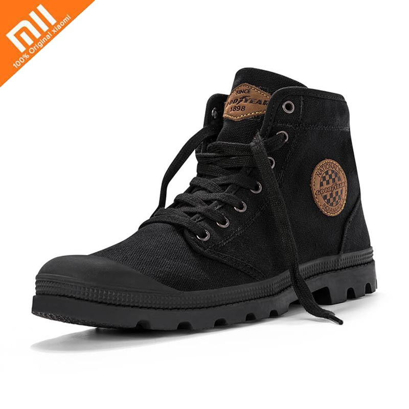 Xiaomi Canvas Shoes Outdoor Hiking Boots Tire Sole Non slip Rubber Wear Resistant Comfortable Breathable Fashion
