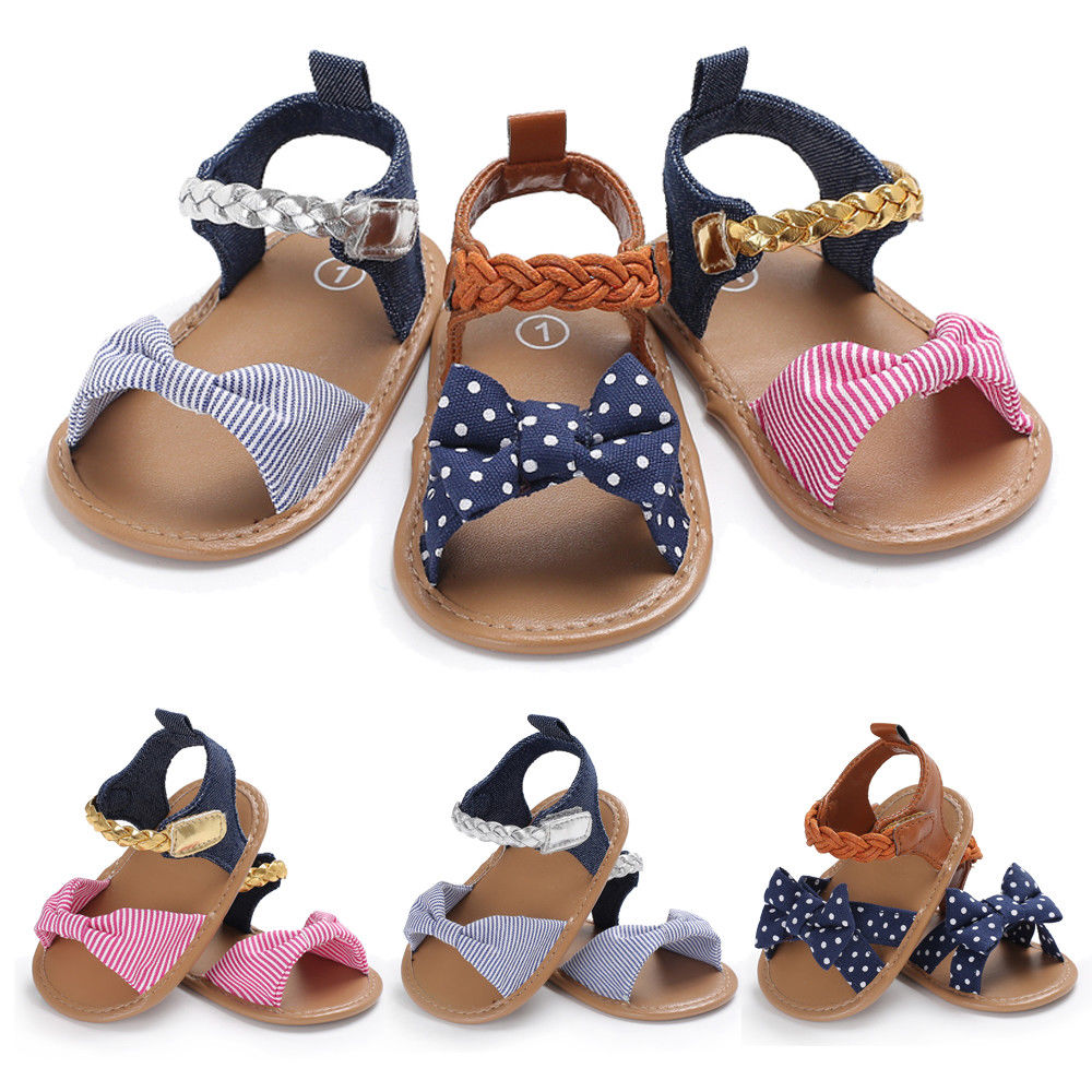 Hot Casual Newborn Baby Girl Sandals Soft Sole Crib Shoes Anti-slip Sneaker Prewalker 0-18M