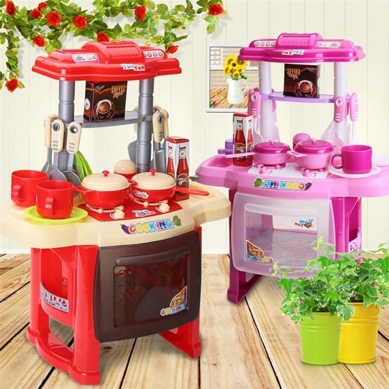 cocina para nios juguetes para nios juegos de imaginacin nias simulacin de cocina vajilla utensilios de cocina utensilios d