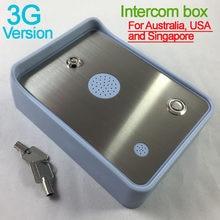 Interphone Audio 3G / GSM simple | Livraison gratuite, pour porte et ouvre-porte, contrôleur d'accès, double entrée d'alarme, alimentation DC12V