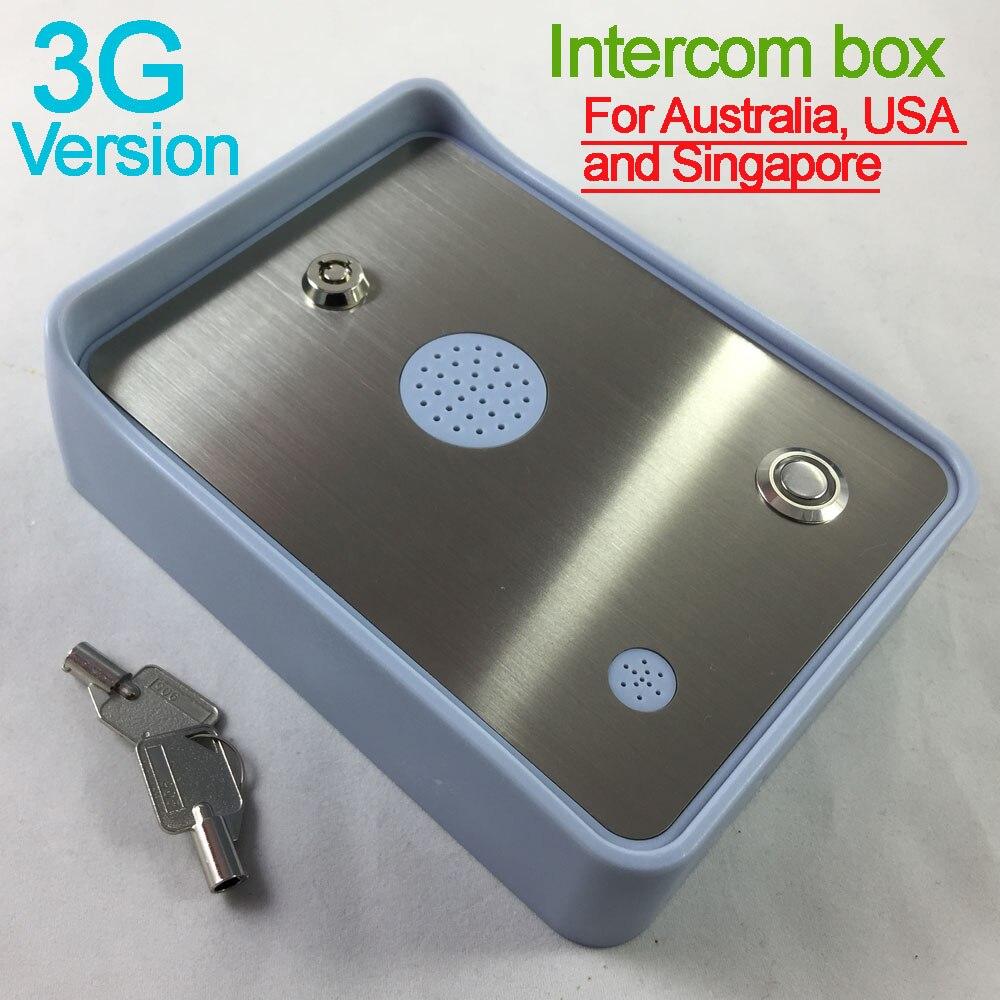 Livraison gratuite 3G/GSM Audio Interphone pour unique porte de maison et porte d'accès d'ouverture contrôleur double entrée d'alarme DC12V puissance