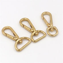 2Pcs Solid Brass Snap Hooks Swivel Eye Trigger Clips Metal Buckles Leather Crafat Luggage Bag Keychain Dog Collar Lobster Clasps