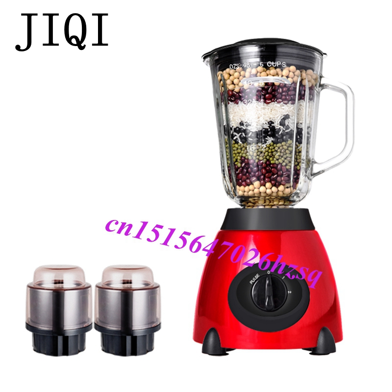 JIQI Electric Food Blender Mixer Extractor Juicer Fruit Vegetable Citrus Juice Extractor Squeezer jiqi commercial ice smoothie blender food mixer juicer electric fruit juice extractor multifunctional soy milk machine 110v 220v
