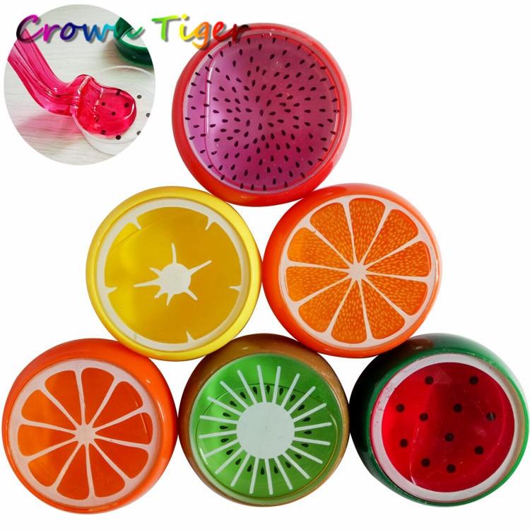 Fruit slime toy Magnetic polymer Clay color Crystal slime Mud transparent for Kids Intelligent Hand Gum Plasticine Mud Playdough