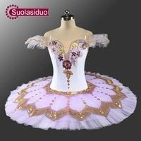 Professional White Adult Stage Ballet Tutu Costume Women Ballet Dance Performance Apperal Children Ballet Skirt Girls Dresses