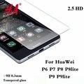 9 H 0.3 MM Premium Vidrio Templado para el Huawei Ascend P6 P7 P8 P9 película protectora Protector de Pantalla P8 P9 lite