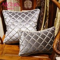 Avigers High Quality Geometric Cushion Luxury Embroidery Design Velvet Pillow Core Home Decorative Sofa Chair Car