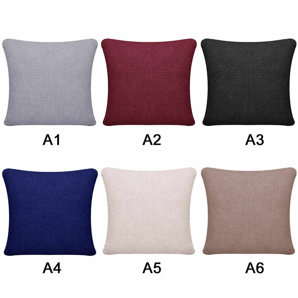 Decorative Pillow Case Flannel Diamond Patckwork Modern Simple Throw Cover Pillowcase Party Hotel Home Textile 45 X 45cm