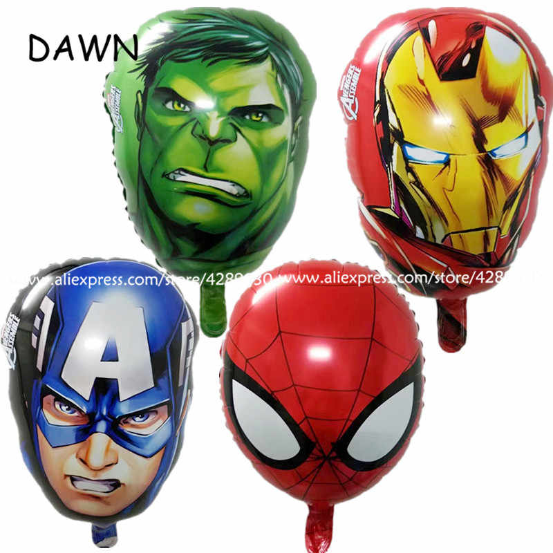 1pcs/lot 16 inch The Avengers foil balloons super hero helium globos Captain America superman ballon for boy's birthday supplies