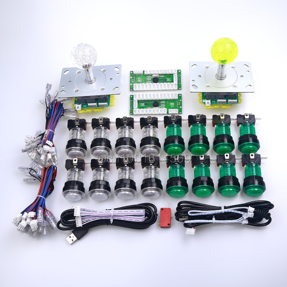 New LED Arcade Game DIY Parts + 2 X 5pin 5V 2/4/8 Way LED Illuminated Joystick + 16 X LED Illuminated Push Button for Mame Game кроссовки для девочки zenden цвет розовый 219 33gg 002tt размер 31