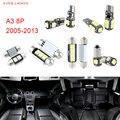 12 unids LED Canbus Luces Interiores Paquete Kit Para Audi A3 8 P (2005-2013)
