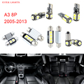 12pcs LED Canbus Interior Lights Kit Package For Audi A3 8P (2005-2013)