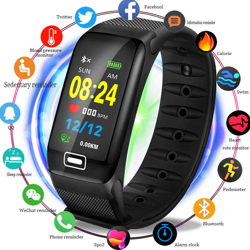 BANGWEI 2019 Sport Smart นาฬิกาผู้ชายฟิตเนส tracker อัตราหัวใจความดันโลหิตออกซิเจน Monitor IP68 กันน้ำสมาร์ทนาฬิกาผู้หญิง
