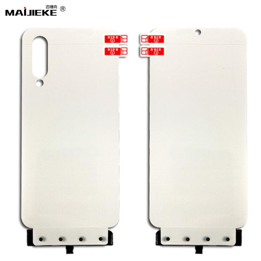 2PCS Front+Back Full Cover Screen Protector TPU Nano Film For Xiaomi mi A3 lite cc9e cc9 Hydrogel Film with install tools-in Phone Screen Protectors from Cellphones & Telecommunications on