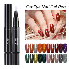 LEMOOC Dawdler Cat Eyes UV Gel Varnish Pen 3D DIY Magnetic Red Fire Cats Eye Nail Polish Soak Off Lacquer