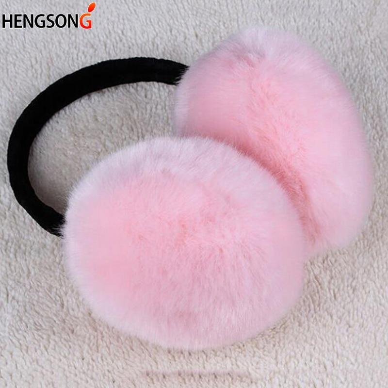 Imitation Rabbit Fur Earmuffs  Women Winter Ear Warmers Girls And Boys Earmuffs Large Plush Ear Warmers 2019 Winter Earmuff