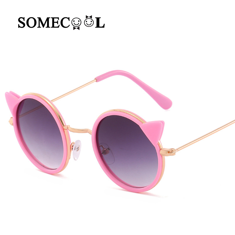 b79d447677 SomeCool nueva oreja de gato de dibujos animados de los niños de gafas de  sol UV400