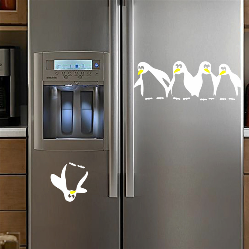 Saving Penguin Kitchen Fridge Wall Stickers For Dining Room ...